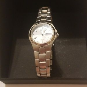 Women's Eco Drive Stainless steel watch.